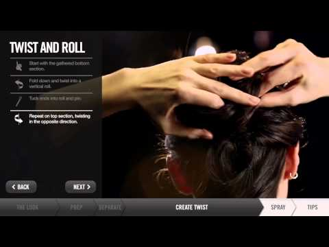 Learn How To Make a Double Twist Updo Hairstyle - Hair Tutorials by Redken