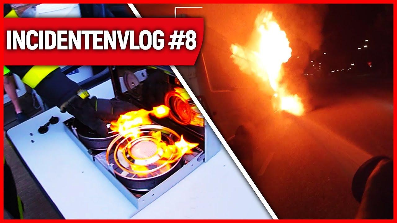Bestelbus & kooktoestel in brand | Brandweervloggers Rick & Richard | Incidentenvlog #8