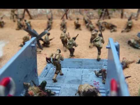D-Day Diorama - 1:72 Scale Model With Hand Painted 24mm Soldiers