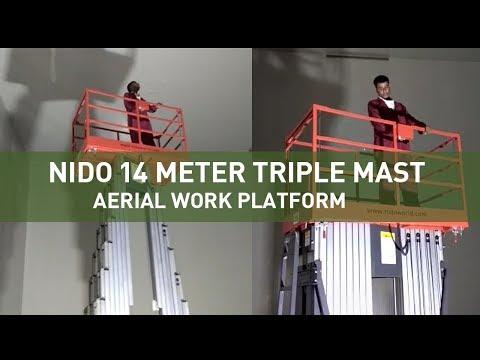 Nido14Meter Triple Mast Aerial Work Platform