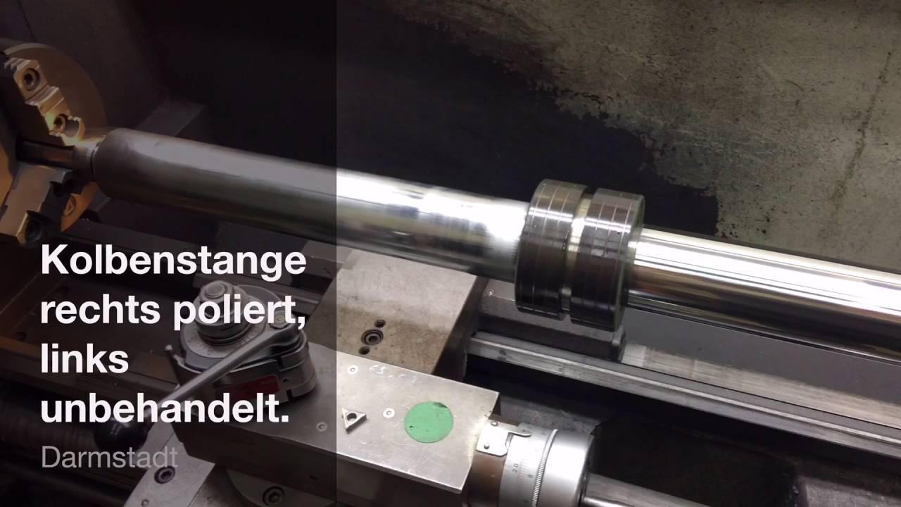 Außergewöhnlich Servozylinder Reparatur: Maschinelles polieren der Kolbenstange #II_36