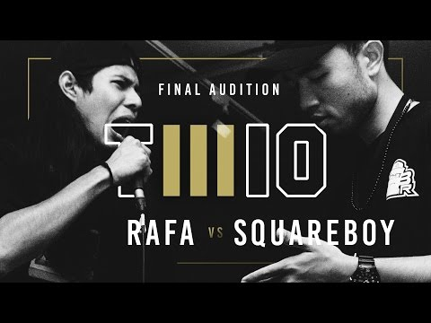 TWIO3 : #9 RAFA vs SQUAREBOY (FINAL AUDITION) | RAP IS NOW