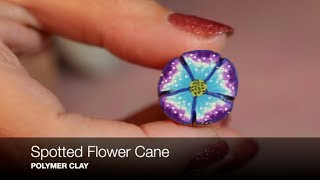 Creating A Spotted Flower Cane with Polymer Clay Tutorial