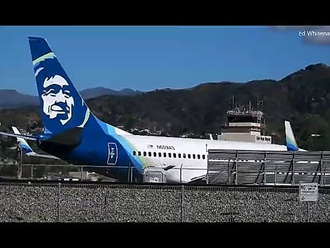 Alaska Airlines Boeing 737 790 Departing Burbank Airport