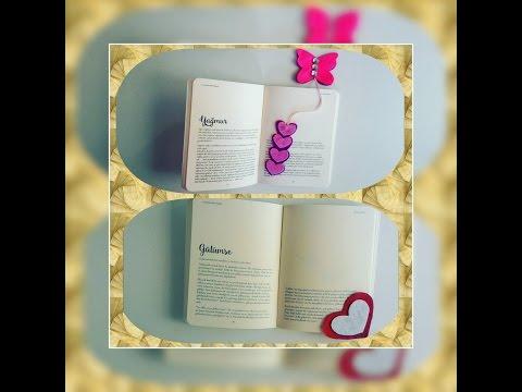 Kalpli kitap ayracı yapımı