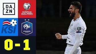 Glanzloser Weltmeister siegt und setzt sich ab: Island - Frankreich 0:1 | EM-Quali | DAZN Highlights