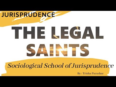 Sociological School Of Jurisprudence Roscoe Pound || PART 1