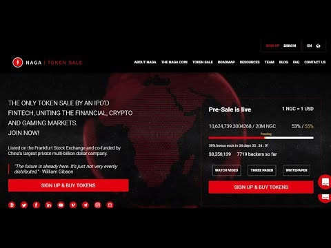 Naga Coin ICO - 30% Bônus até dia 27 - Avaliação completa