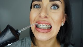 CLEANING BRACES W/ WATERPIK & SPRAYING MY EYE | CHELS NICHOLE