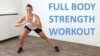 20 Minute Full Body Strength Workout - Bodyweight Only