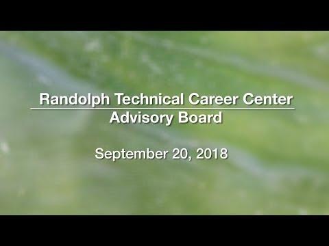 Randolph Technical Career Center Advisory Board - September 20, 2018