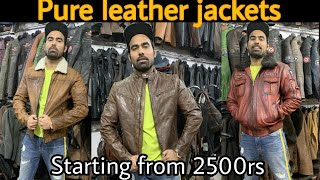 Cheapest Leather Jacket Market | Factory tour (Starting From 2500rs)