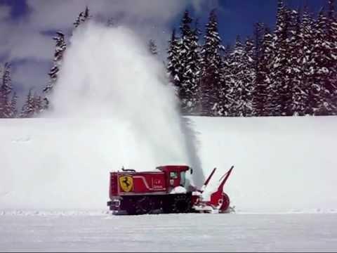 Mt. Bachelor Ferrari at Work