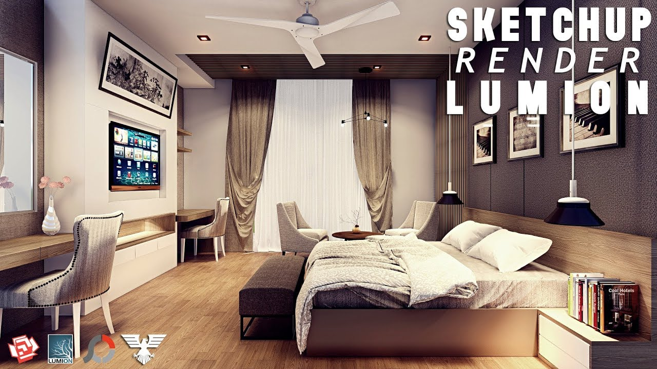 sketchup living room sketchup render lumion 6 44 deluxe suite bedroom 4 11493
