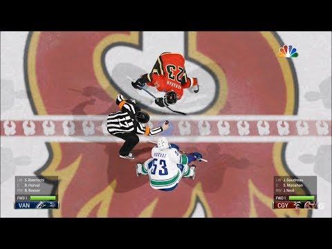 NHL 19 - Calgary Flames vs Vancouver Canucks - Gameplay (HD) [1080p60FPS]