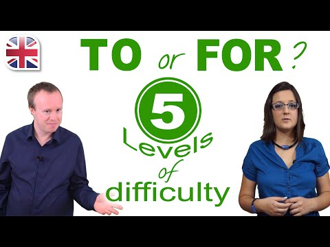 Should You Use TO or FOR? - 5 Levels of English Grammar