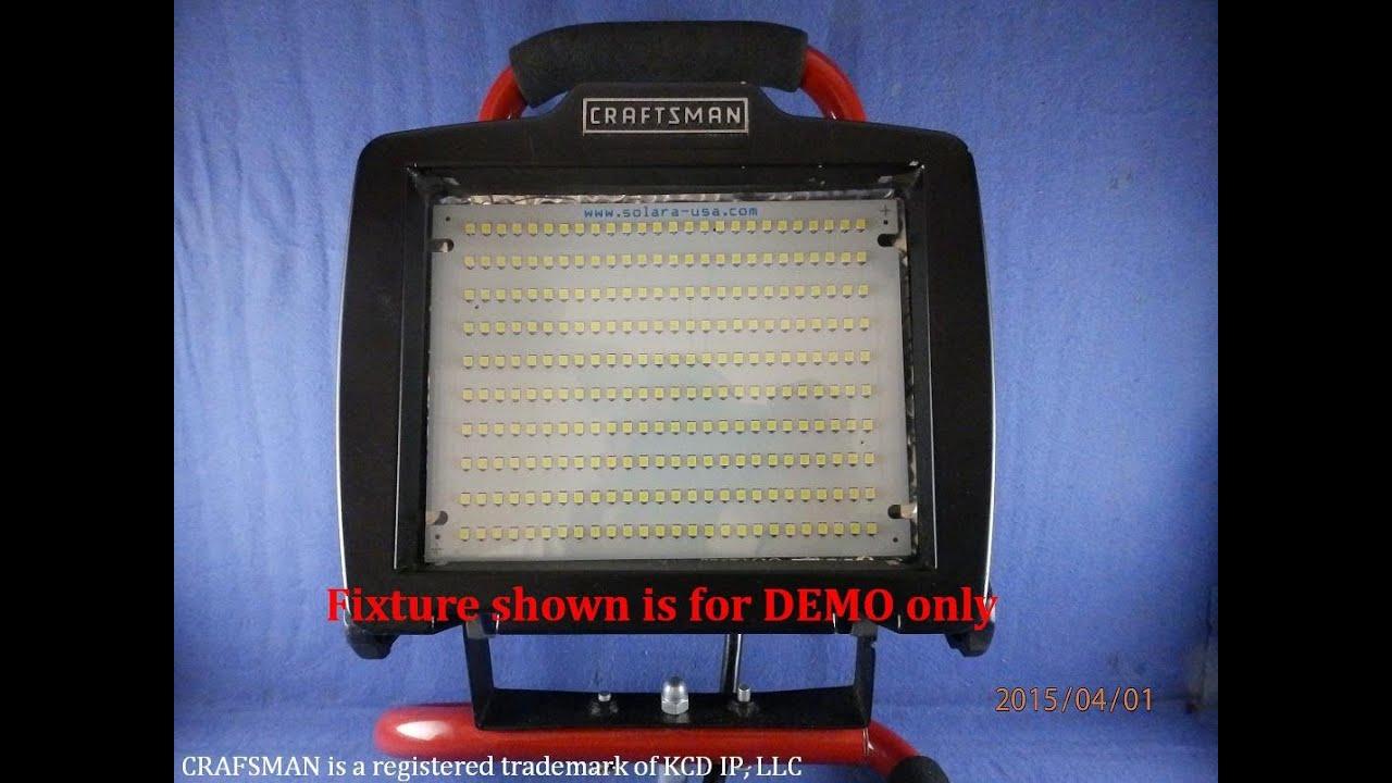 Converting 500 Watt Halogen Light Using 2000 Lumen 9 5 Watts Led Panel From Solara Usa