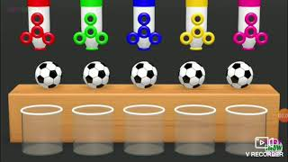 Learn colors from surprise soccer balls for kids