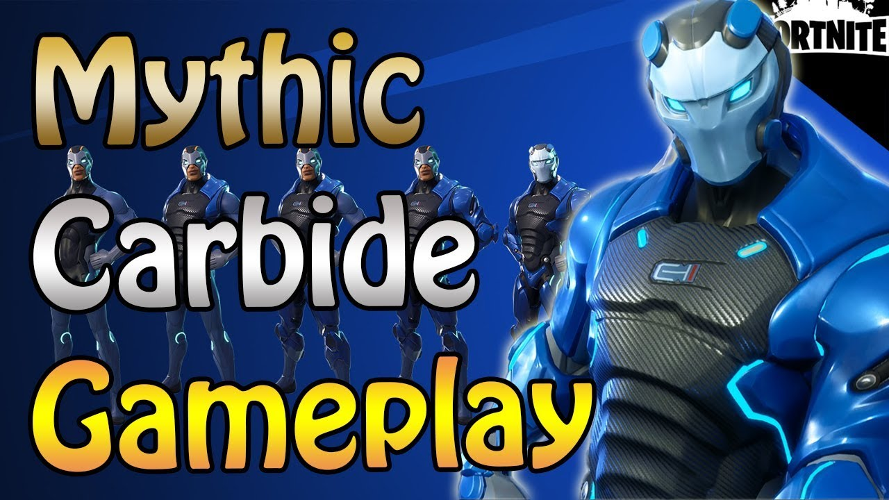 fortnite new mythic carbide soldier save the world gameplay fully armored max level - fortnite carbide hero