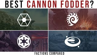 Which Sci-Fi Faction has the BEST CANNON FODDER? | Halo, Starcraft, and Star Wars Lore