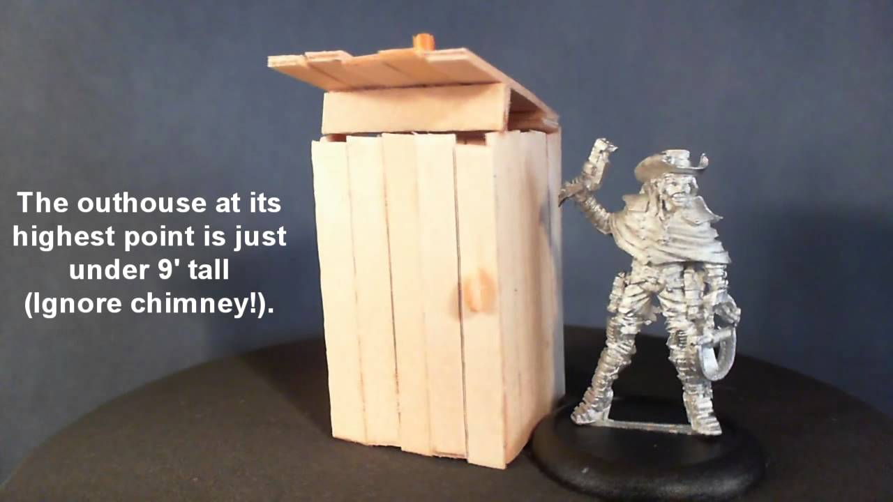 Malifaux Terrain Scale Test By COURAGEnHONOUR