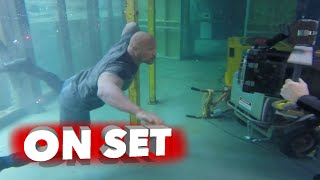san andreas movie complete behind the scenes broll   dwayne johnson alexandra daddario
