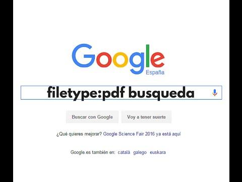 Buscar en Google un tipo de archivo concreto con filetype: