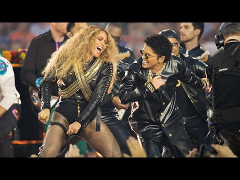 Beyoncé & Bruno Mars Crash Super Bowl 50 Halftime Show | NFL