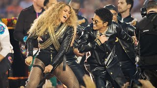 Repeat youtube video Beyoncé & Bruno Mars Crash the Pepsi Super Bowl 50 Halftime Show | NFL