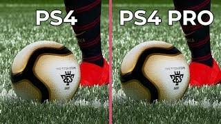 [4K] PES 2019 – PS4 vs. PS4 Pro Graphics Comparison DEMO