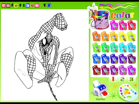 Spiderman Games For Kids - Spiderman Coloring Games - YouTube