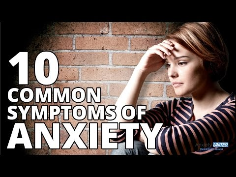 10 Most Common Anxiety Symptoms - Mental Health