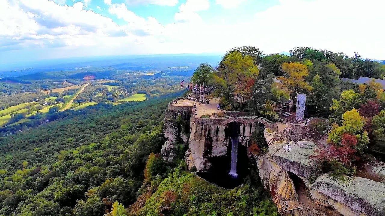 Lookout Mountains Rock City Georgia and Ruby Falls  An Aerial