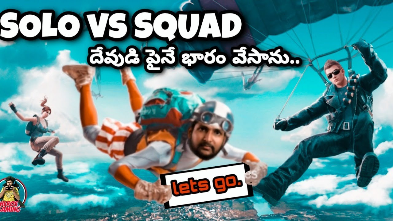 Solo vs Squad Rush Game Play in Telugu in Ace Tier    Asia    Stream No:50    Heros Gaming