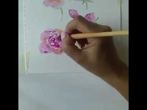 Aquarell fr Anfnger Rosen malen 1  Watercolor for