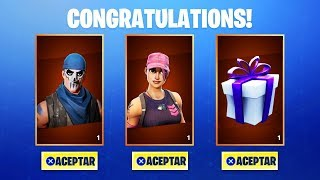 HOW TO GET THE SKINS GIFT IN FORTNITE! HAVING SAVE THE WORLD (Fortnite Regal Skins)