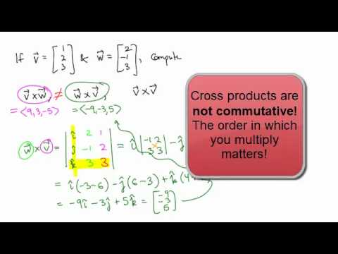 Calculus 3, Topic 4: The cross product