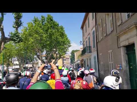 Saint Tropez Vespa parade 2016