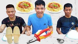 Trận Chiến Ăn Với Nhiều Dụng Cụ | Eating Challenge | PHD
