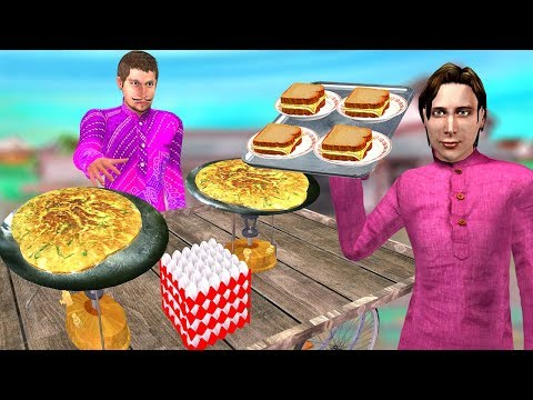 Bread Omelette Hindi Kahaniya | Bedtime Moral Stories | Panchtantra Fairy Tales