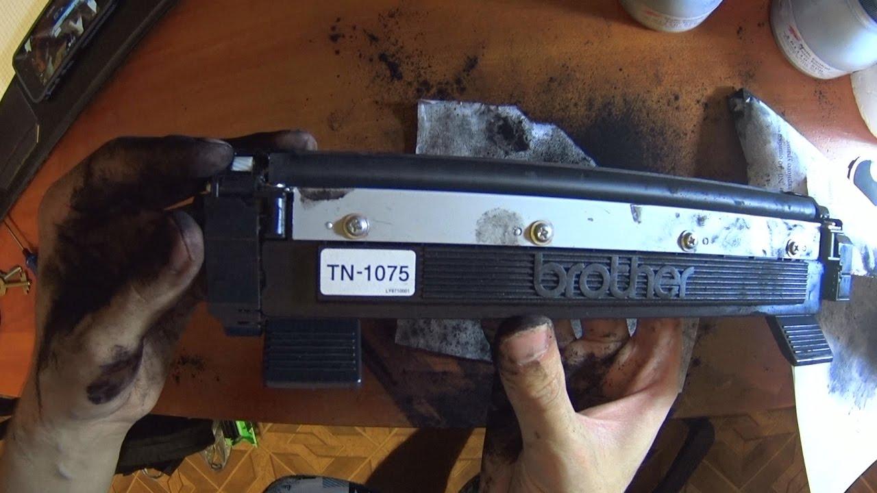 Заправка тонер картриджа brother TN-2275, TN-2090, TN-2235 - YouTube