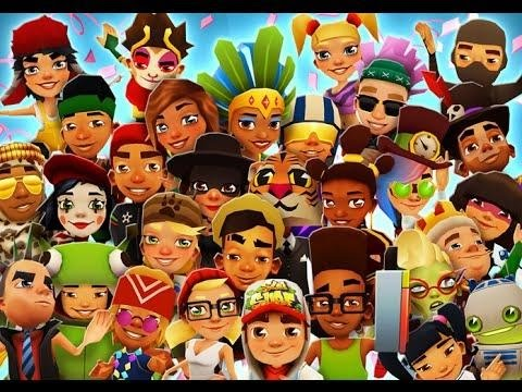 Subway Surfers all characters, outfits and boards unlock!!! - YouTube