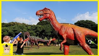 dinosaur indoor playground kids nursery rhymes song for children | MariAndKids Toys