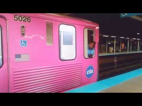 New pink line 10th anniversary wrap on CTA train