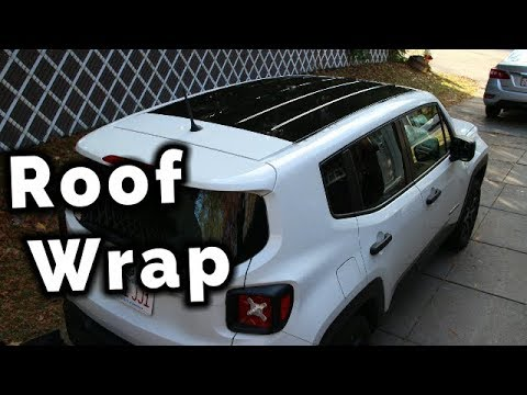 Jeep Renegade Roof >> Vinyl Wrapping The Roof Black On My Jeep Renegade Youtube