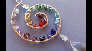 Wire Wrapping Tutorial - Rainbow Spiral Suncatcher