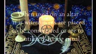 The Paton Altar Pentagram Pentangle on Witchcraft Sacred Space