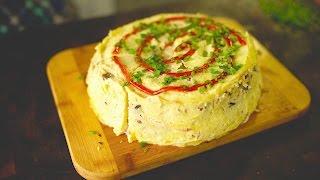 Трехслойный торт-омлет с любимыми начинками!