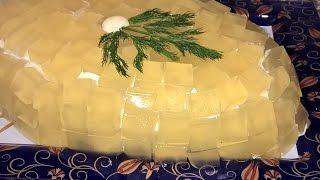 Салат Хрустальный с курицей (мясом). Салат слоеный с курицей. Праздничный салат рецепт.
