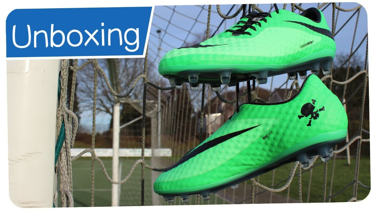 5733fa2bc Nike Hypervenom Phantom FG Neo Lime Black - NEYMAR Boots - Unboxing ...